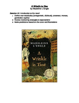 Novel Study - Wrinkle in Time by Madeline L'Engle
