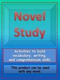 Novel Study-activities to build vocabulary and comprehensi