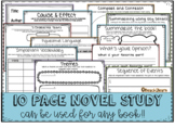 Novel Study - for ANY Book - 10 pages + cover - Reading Co