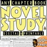 Novel Study for ANY CHAPTER BOOK    Google Slides Distance
