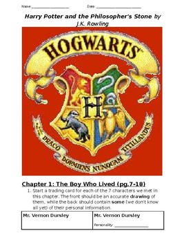 Novel Study for Harry Potter and the Philosopher's Stone