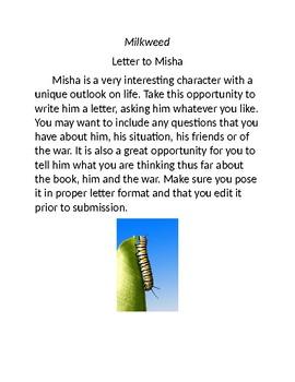 Novel Study for Milkweed
