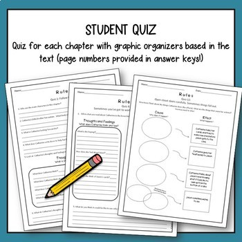 Rules by Cynthia Lord, Novel Study with Quizzes and Lesson Plans