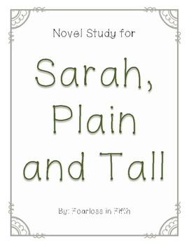 Novel Study for Sarah, Plain and Tall