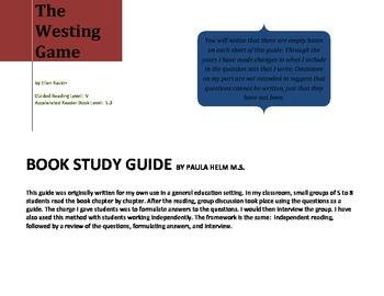 Novel Study for The Westing Game by Ellen Raskin