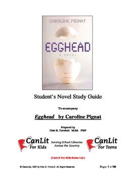 novel study guide for egghead by caroline pignat by books for kids rh teacherspayteachers com Novel Study Cartoon Novel Study Cartoon
