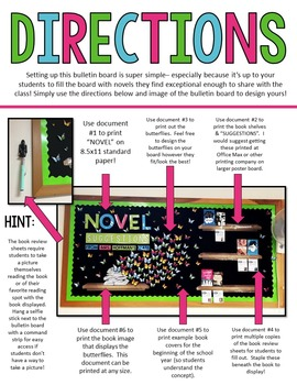 Novel Suggestions Bulletin Board: Upper Elementary, Middle & High School
