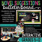 Novel Suggestions Bulletin Board: Upper Elementary, Middle