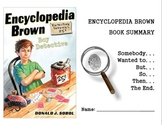 Novel Summarizing Guide: Encyclopedia Brown (SWTBST)