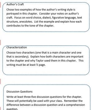 Novel Task Cards