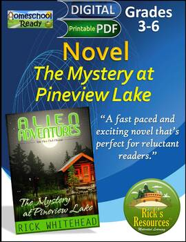Novel: The Mystery at Pineview Lake - Great for Reluctant