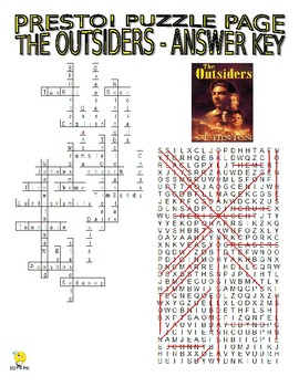 Novel : The Outsiders Puzzle Page (Wordsearch and Criss-Cross)