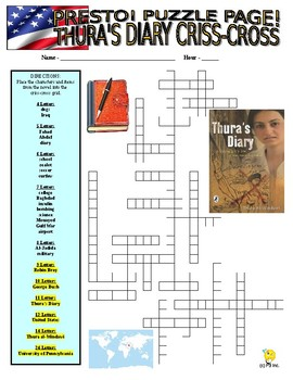 Novel : Thura's Diary Puzzle Page (Wordsearch and Criss-Cross)