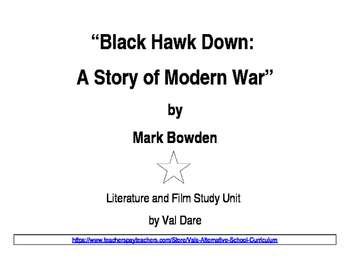 """Blackhawk Down"" Literature and Film Study (2016)"