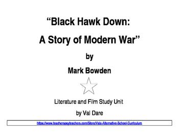 """Blackhawk Down"" Literature and Film Study (2016)"