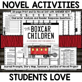 Novel Study Unit Bundle for Grades 3-5 CCSS Aligned