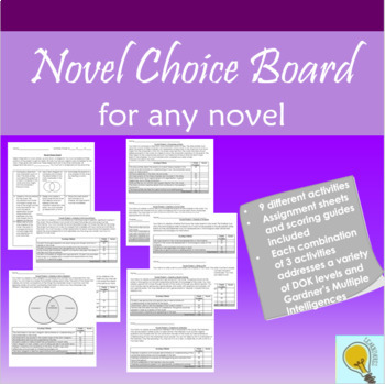Novel Unit Choice Board
