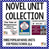 Novel Unit Collection ~ Three Novel Units for Middle School!
