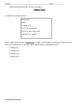 Comprehension and Mentor Sentences Novel Unit