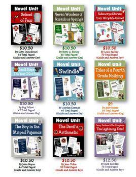 Novel Study Unit Custom Bundle: Pick 3!