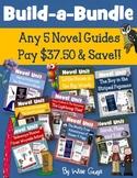 Novel Study Unit Custom Bundle Pick 5