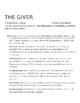 Novel Unit For The Giver