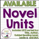 Leveled Novel Unit Lists