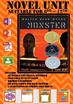 Novel Unit Monster by Myers