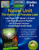 Novel Unit: Mystery at Pineview Lake + Audio book + Compre