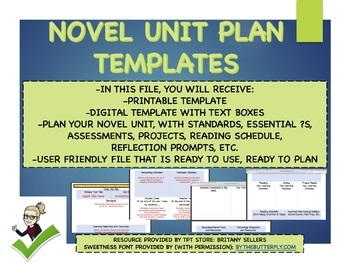 Novel Unit Plan Templates