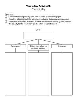 Novel Unit Vocabulary Activities
