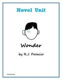 Novel Unit: Wonder by R.J. Palacio