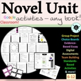 Complete Novel Unit - ANY NOVEL - Generic Novel Study Guide - Summer School