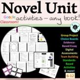 Complete Novel Unit - ANY NOVEL - Generic Novel Study Guide -