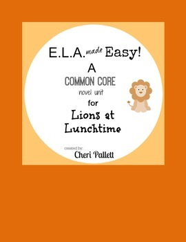 Novel Unit for Lions at Lunchtime by Mary Pope Osborne