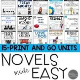 Novel Study Unit Bundle: 15 No-Prep Units for Middle Schoo