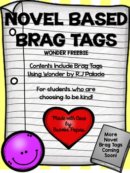 Novel based Brag Tag Freebie using Wonder