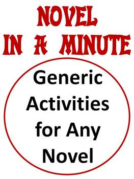 Novel In A Minute 18 Pgs Of Activities Any Novel By Lisa Frase