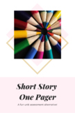 Novel or Short Story Assessment: One-Pager