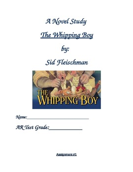 Novel study:  The Whipping Boy