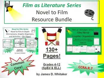 Novel to Film Bundle Common Core Movies and Books