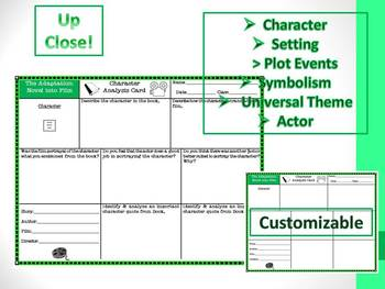Novel to Film Mini-Lessons, Graphic Organizers, & Activities Common Core
