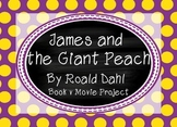 James and the Giant Peach by Roald Dahl - novel study with film element