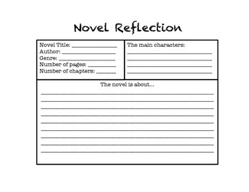 Novel/Book Reflection