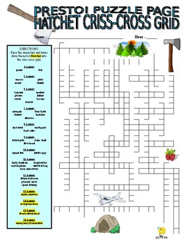 Novels : Hatchet Puzzle Page (Wordsearch and Criss-Cross)
