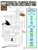 Novels : Old Yeller Puzzle Page (Wordsearch and Criss-Cross)