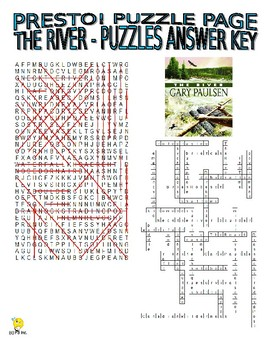 Novels : The River Puzzle Page (Wordsearch and Criss-Cross)