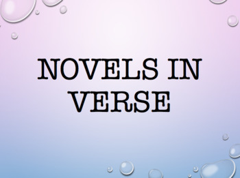 Novels in Verse Book List/ Slide Show
