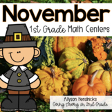 November 1st Grade Math Centers with Task Cards