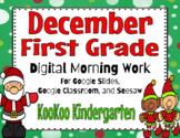 December 1st Grade Morning Work for Google Classroom